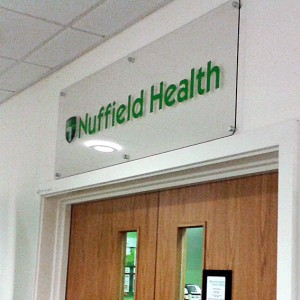 Clear Acrylic Signage with a full colour print to reverse