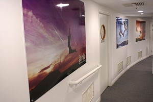 The Ark Fitness Centre picture display boards with a gloss laminate finish