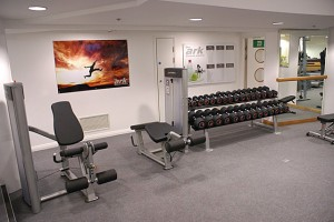 The Ark Fitness Centre info and picture display boards in situ