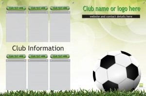 Football club info display board