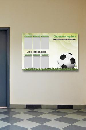 BRHS printed display board