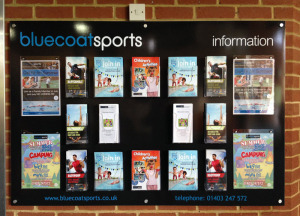 Bluecoat Sports info display board