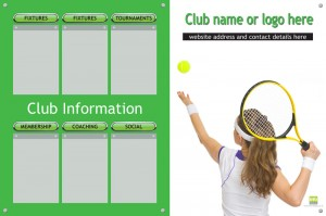Tennis club info display board